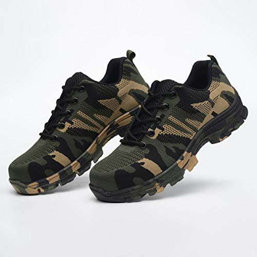 407d6c6ee30cd Yao Anti-Smashing Puncture Protective Shoes Breathable Safety Shoes Four  Seasons Green Camouflage 41