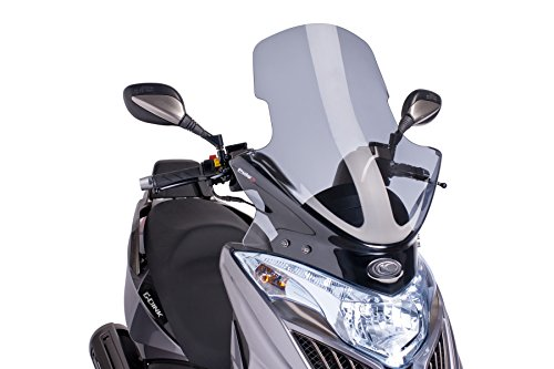 Parabrezza Touring Puig 6728H Maxiscooter G-Dink per Kymco 50/125i/300i 2012-2015, Yager GT 125i/300i, colore: grigio, taglia: M