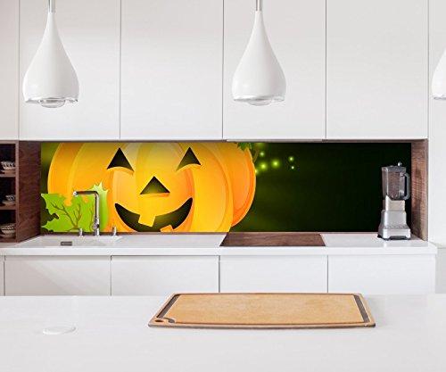 ckwand Halloween Kürbis Cartoon Sterne Kinderzimmer Kitchen Küche Folie Fliesen Möbelfolie Spritzschutz 22?1344, Höhe x Länge:80cm x 150cm (80 Halloween Cartoons)