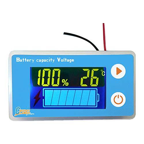 Multifunktions-LCD-Blei-Säure-Batterie-Kapazitätsmesser, mit Temperaturanzeige, Batterieanzeige, Tankanzeige, Spannungsmessgerät (Marine Battery Monitor)