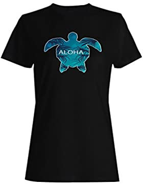 Aloha hawaii tortuga verano usa camiseta de las mujeres g497f