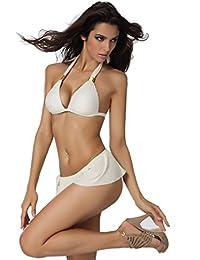 SZIVYSHI Maillot de Bain Bikini Push Up Bustier Rembourrée 2 Pièces Pour Femme