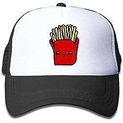MN.NM4554 Kawaii French Fries Mesh Baseball Cap Kid Boys Girls Adjustable Golf Trucker Hat