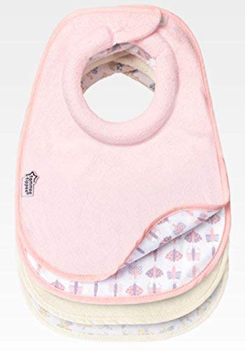 Tommee Tippee Closer to Nature Bavaglino per bambina, Rosa (4 Pezzi)