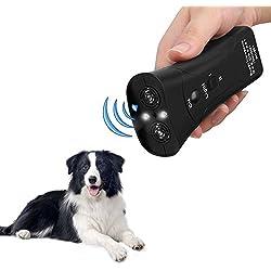 Handfly Dog Repeller 3 in 1 Anti Barking Stop Bark Training Repellent Control Multifunctional LED Ultrasonic Pet Dog Exerciser