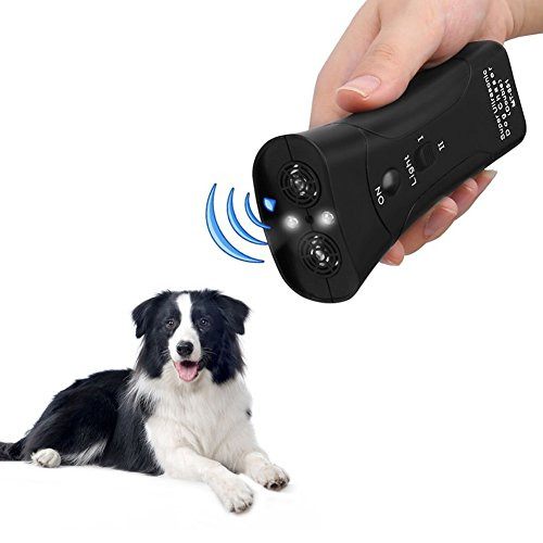Handfly Dog Repeller 3 in 1 Anti Barking Stop Bark Training Repellent Control Multifunctional LED Ultrasonic Pet Dog Exerciser