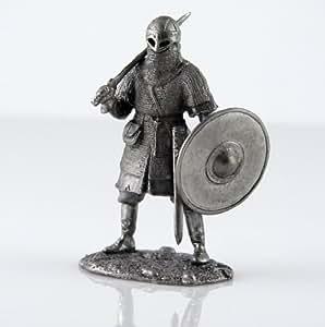 Soldats de plomb. Viking, sculpture en métal de 10 siècle. Figurines de collection de 54 mm (échelle 1/32)
