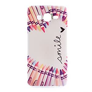GENERIC Love Pen Pattern TPU Phone Case for Samsung Galaxy Alpha #04068889