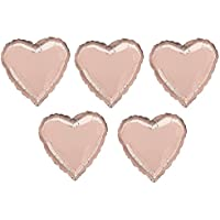 Amscan International 3618602 Foil Balloon, Heart Shape, Sd-H: Rose Gold Heart