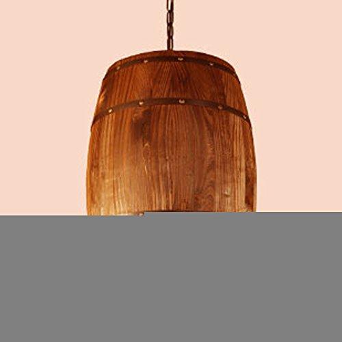 Barrel Lampe (Omped American Country Cafe Restaurant Barrel Lampe Retro Industrial Wind Balkon Club Distillery kreative Persönlichkeit Thema Restaurant Bar Kunst Kronleuchter Kronleuchter Holz Fass)