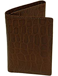Delta Rfid Blocking Leather And Polyester 3-Fold Crocodile Embossed Wallet With Credit Card Slots And Utility...