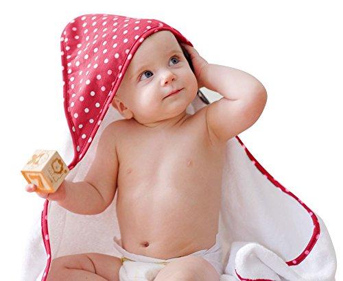 Großes Bambus Baby Kapuzenhandtuch, super weich, 35 x 35, hypoallergen, Größe für Kleinkinder, Jungen und Mädchen -