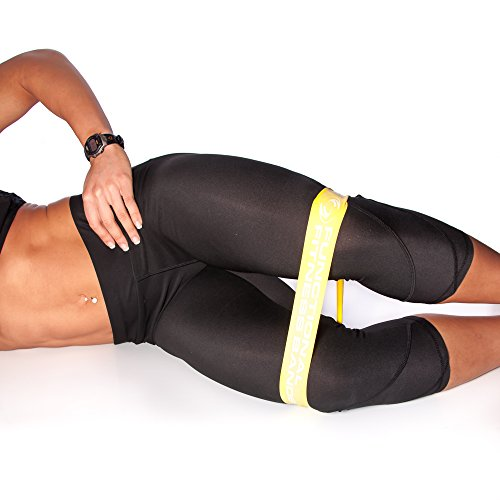 Functional Fitness Light Resistance Loop Mini Band for Leg, Hips, Butt Exercise. - Great for Physical Therapy, Crossfit, Stretching, Yoga, Pilates, and Total Lower Body Strength/Endurance Training (Premium Hip Boot)