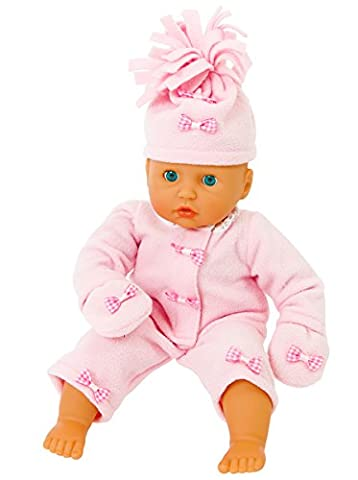 COMPLETE PINK FLEECE OUTFIT FOR 12-14 INCH[30-35 CM] DOLLS FROM