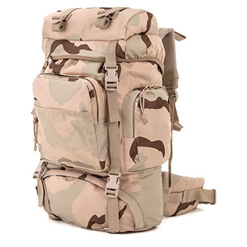 Commando Industries Tactical Rucksack Wanderrucksack 65 L (3-Color-Desert)