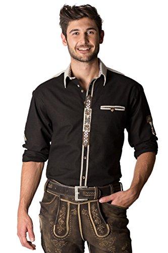 OS-Trachten Herren Trachtenhemd Ludger schwarz H040052 42