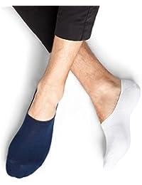 BLEUFORÊT - Invisibles coton protège-pieds - Marine/Blanc, 43/46