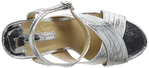 Dorothy Perkins Damen Spring Cross Over Pumps Silver (Metallic)