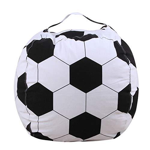 FamyFirst Kinder-Sitzsack, Aufbewahrung, Spielzeug aus Plüsch, Ballform, tragbar,...