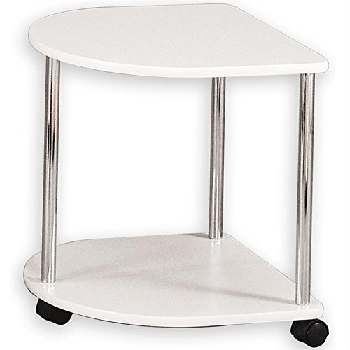 IDIMEX Sellette guéridon Table d'appoint sur roulettes Felina laqué Blanc