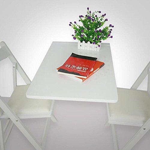 ZR- Piegare Tavolo da Pranzo Tavolo da Pranzo in Legno Massello Tavolo da Muro Rettangolare Tavolo da Parete Muro di Legno Contro Il Tavolo A Muro Scrivania Scrivania del Computer