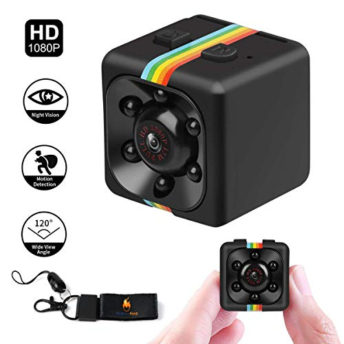 Spy Camera, SQ11 Mini Spy Camera Secret Camera 1080P Mini Camera with IR Night Vision Motion Detection Small Surveillance Camera for Home