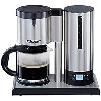 Cloer 5609 Filterkaffee-Automat mit Temperaturstabilisierung / 1100 W  / LCD Display mit Timer / 12 Tassen / Filtergrösse 1x4 / Edelstahl
