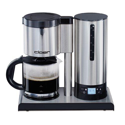 Cloer 5609 Filterkaffee-Automat mit Temperaturstabilisierung / 1100 W/LCD Display mit Timer / 12 Tassen/Filtergrösse 1x4 / Edelstahl