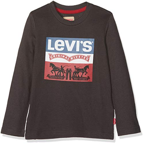 Levi's kids tee-shirt nm10137, t bambino, grigio (charcoal grey 29), 14 anni (taglia produttore: 14a)