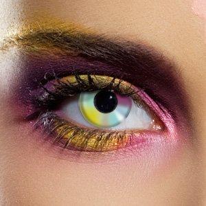 80062 Paar Kontaktlinsen linsen farbige regenbogen vampir halloween neu