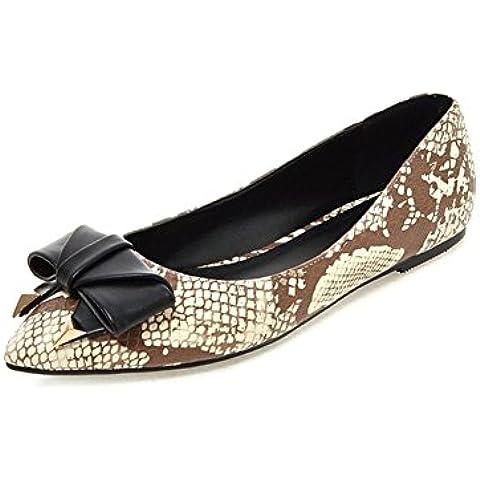 Donna in pelle di serpente modello sharp superficiale appartamenti/Arco scarpe