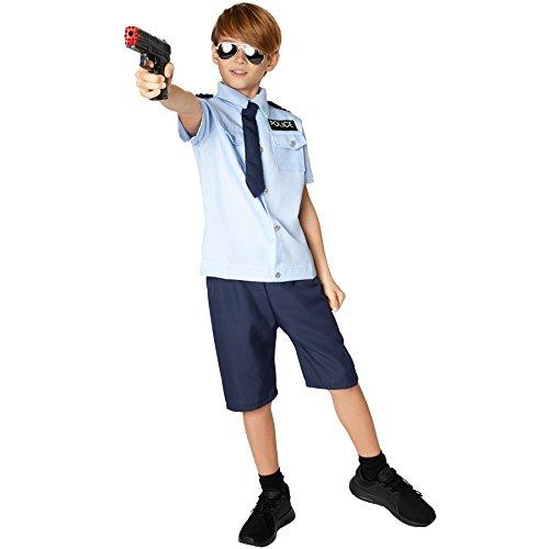TecTake dressforfun Jungenkostüm Police Boy | Cooles Hemd -
