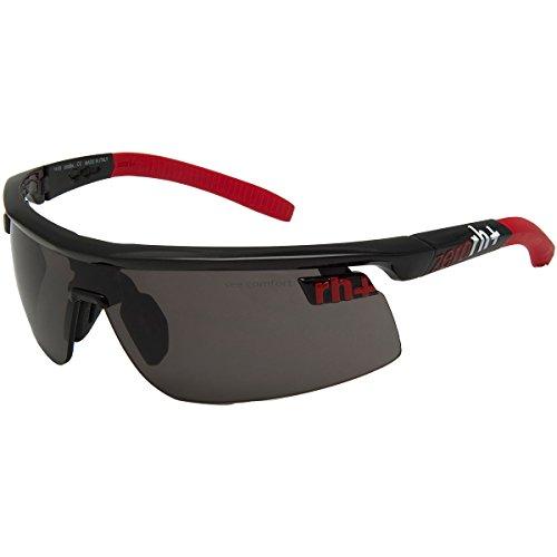 Rh+ olympo triple fit occhiali, unisex adulto, nero (nero/rosso)
