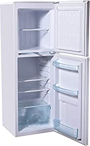 Super General 190 Liter Compact Top-Mount Refrigerator-Freezer/ White/ Defrost/ Wired Shelves/ 1380 x 480 x 53