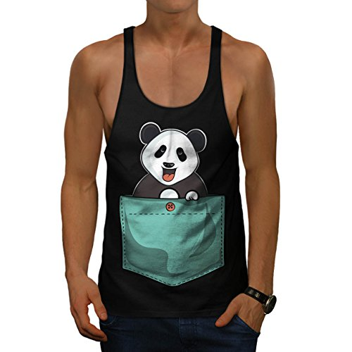 Motte Bar (Panda Bär Niedlich Tasche Men XL Fitnessstudio Tank Top | Wellcoda)