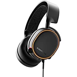 SteelSeries Arctis 5 - Casque de Jeu à Éclairage RVB - Son Surround DTS Headphone:X v2.0 pour PC et PlayStation 4 - Noir