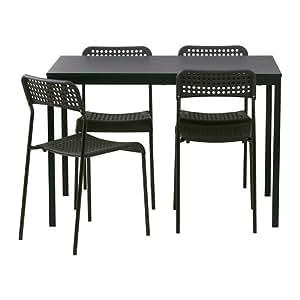 IKEA Tärendö / ADDE - table et 4 chaises, noir - 110 cm