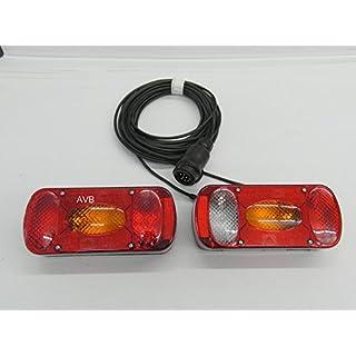 Aspöck Midipoint 2 -- 13 pol komplett Set Leuchten und Kabel 4 Meter & Rückfahrscheinwerfer