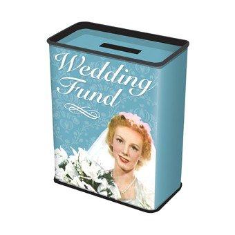 Stylische Retro Blech-Spardose - Wedding Fund...Für alle Pärchen bei denen es bald soweit ist!