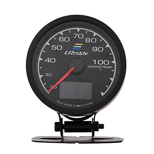 Qiilu QL05020 Misuratore della temperatura dell'olio del manometro del turbo della pressione dell'olio per auto da corsa(indicatore temperatura acqua)
