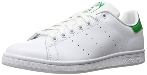 adidas Originals Stan Smith, Baskets Pour Femme Blanc Cassé - Bianco (Ftwwht/Ftwwht/Green) 46 2/3