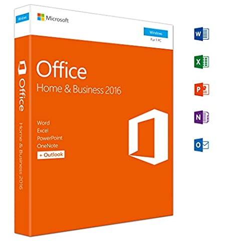 Microsoft Office Home and Business 2016 (Product Key Card ohne