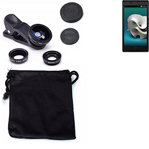 3in1 Clip-On Kamera Adapter für ZTE Kis 3 Max Macro Weitwinkel FishEye Fischauge Objektiv Linse Smartphone Objektivset - K-S-Trade