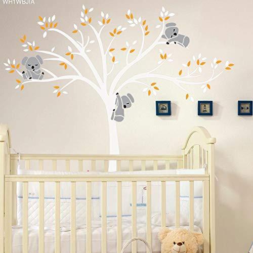 ELGDX Etiqueta de la Pared de Gran tamaño del árbol del Oso para los niños Koala de Dibujos Animados...