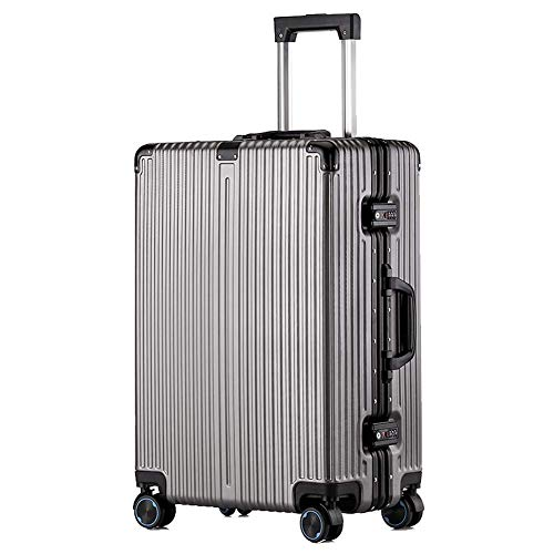 YYLE SNUA valigia,Business Travel Trolley Case 24 \26\ Hard Case Travel Bag PC Lega leggera TSA Customs Lock 4 Ruote Ruote Carrello-Darkgray-24in