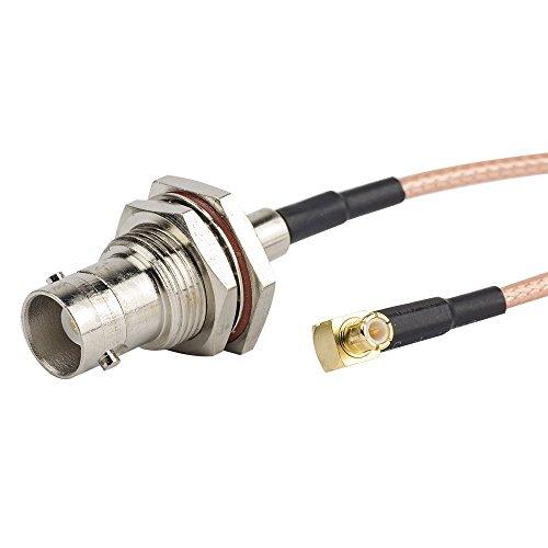 Bnc-usb-adapter (2pcs 6Inch / 0.5ft / 15cm RG316 Adapter, BNC-Buchse auf MCX zum mannlichen rechtwinkligen Kabel Adapter für NooElec, SdR Adapter, USB-Spektrum-Analysator, Dongle externe Antenne)