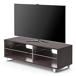 1home TV Stand Cabinet Gloss Shelf Glass upto 60