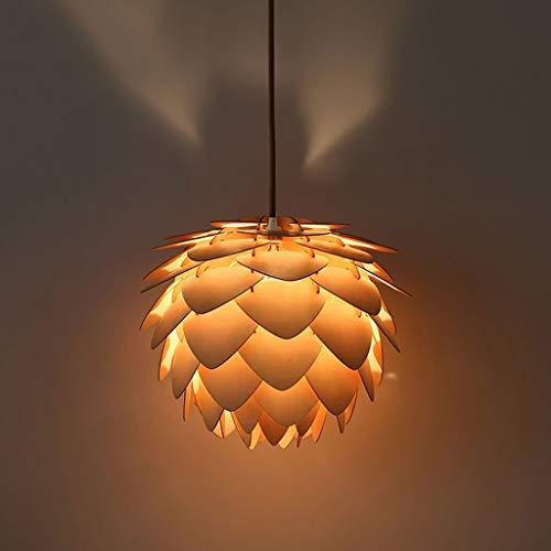 MOUTALE Led Pendelleuchten Moderne Einfache Massivholz Nuss Kronleuchter Für Kaffee Bar/Schlafzimmer/Zähler/Restaurant Lampe Erhältlich in DREI Größen (25 cm / 40 cm / 50 cm) -