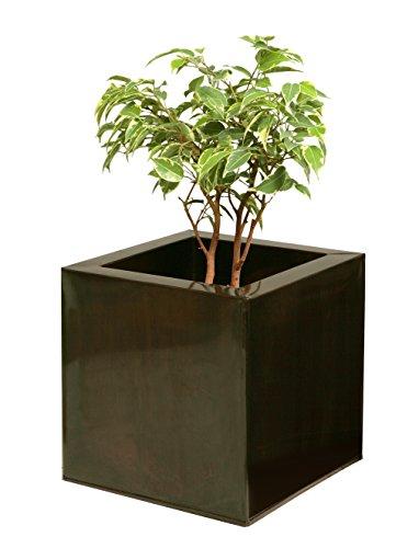Jardinière cube Bronze foncé - Petit