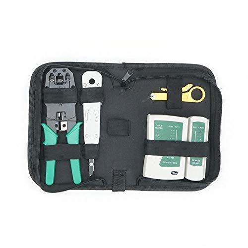 Rcque Kabelreparatur-Wartungstool-Kit-Set 4-in-1-Kabel-Crimpwerkzeug DREI-Netzwerk-Crimpwerkzeug mit Tasche
